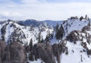 Ariel view of squaw valley in california